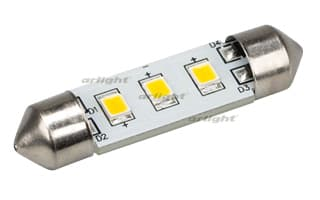 019430 Автолампа ARL-F37-3E Warm White (10-30V, 3 LED 2835) (ANR, Открытый)