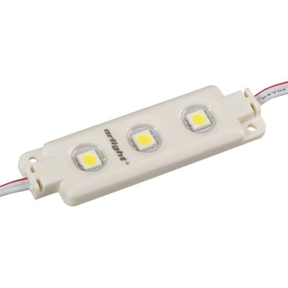 020640 Модуль герметичный ARL-LM5050-3L-12V Warm White. Пакет 100шт